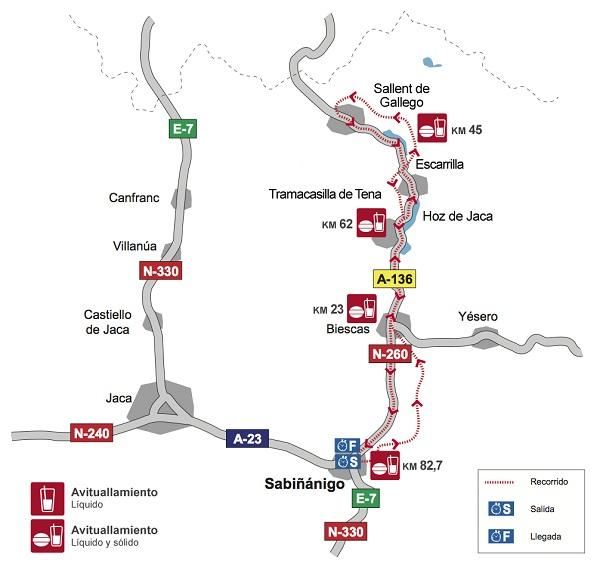 mapa del recorrido de la treparriscos