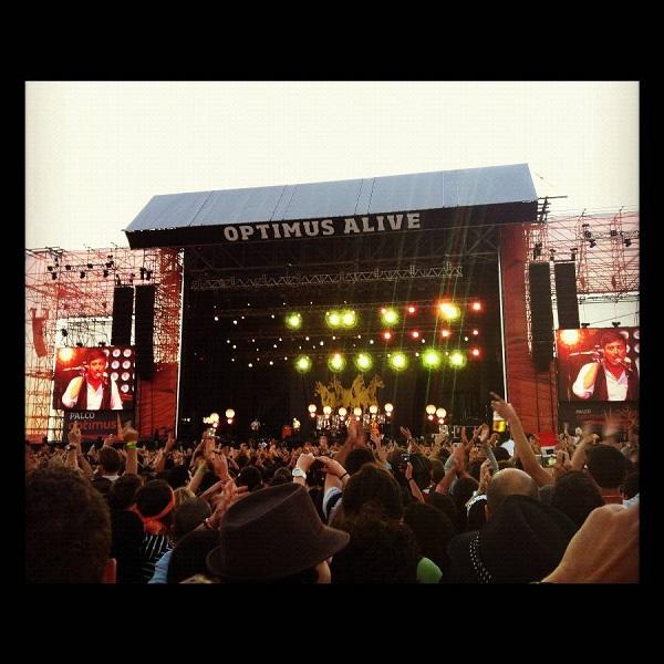 Escenario de Mumford and Sonsen el Optimus Alive 2012 de Lisboa