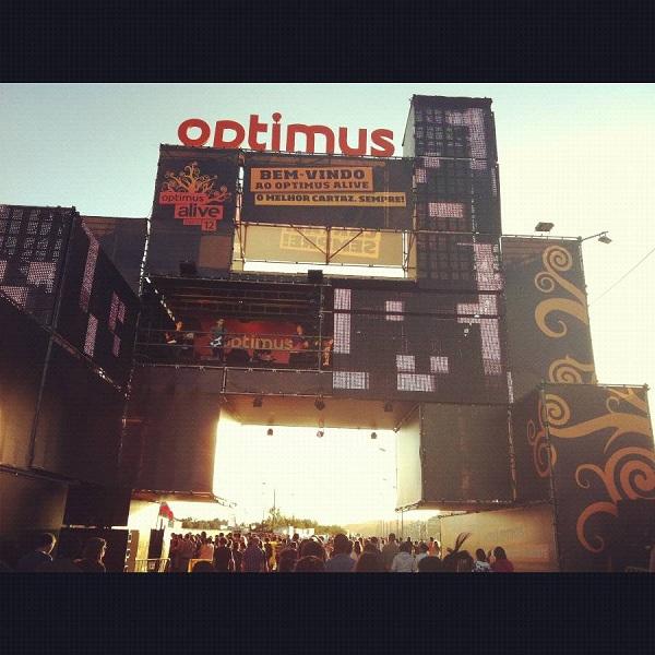 Entrada al recinto del Optimus Alive 2012 en Lisboa