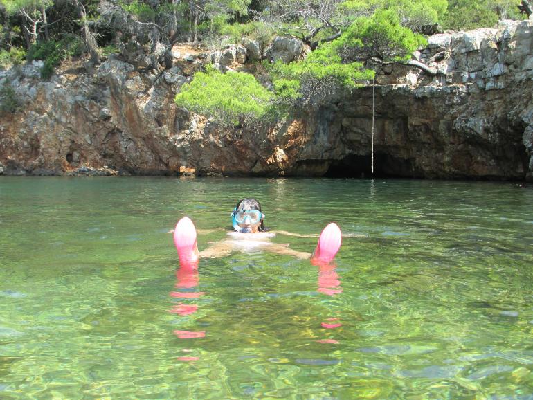 snorkel en la isla de lokrum