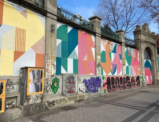 arte urbano en la glorieta de embajadores
