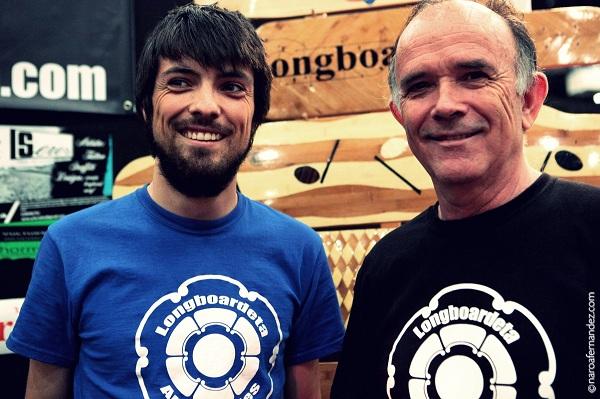 Los creadores de Longboardeta durante el Mulafest 2013 de Madrid