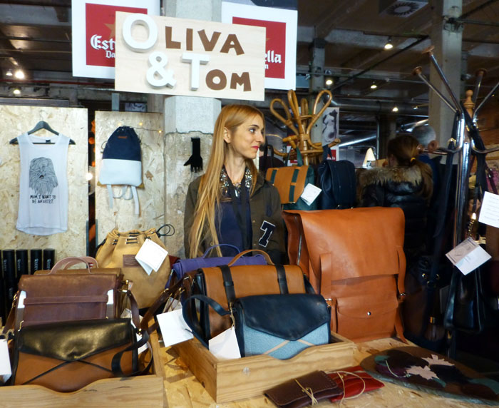 oliva and tom en el Mercado Central de Diseño del Matadero