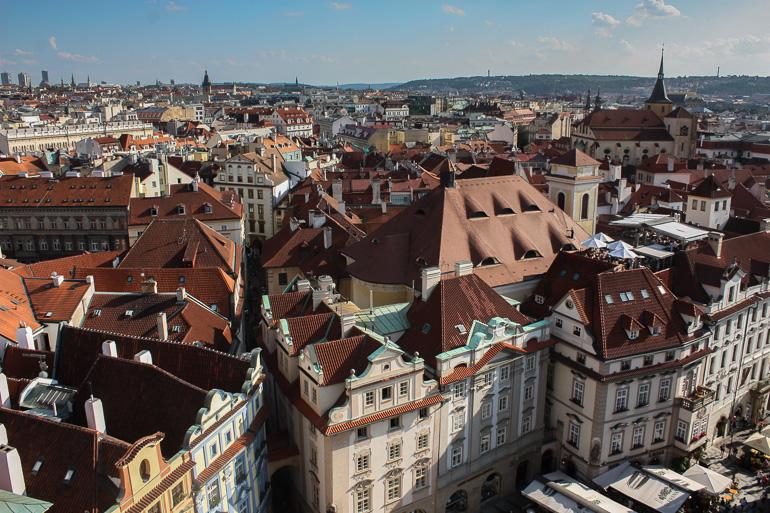 Vistas de Praga desde la Torre del Reloj del Ayuntamiento