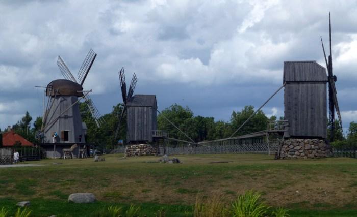 molinos de angla en la isla saaremaa