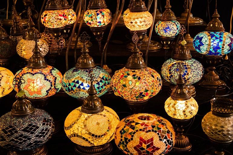 farolillos del gran bazar de estambul