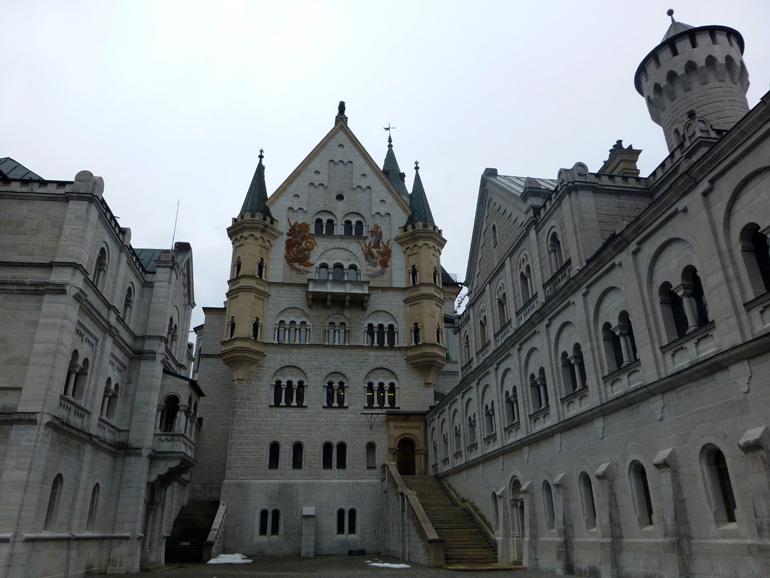 Patio interior del castillo de Neuschwanstein