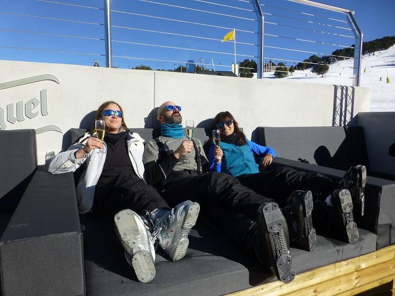 Brindando por unos excelentes días de esquí en Grandvalira