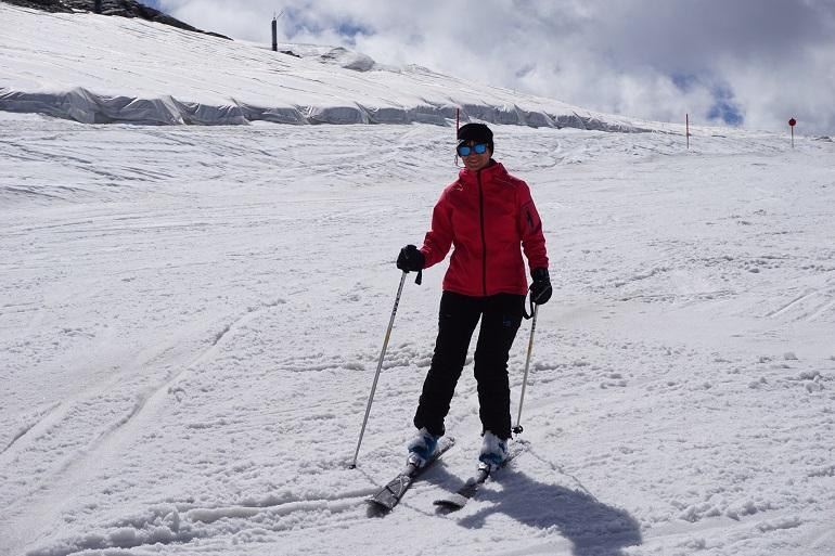 Esquiando en Hintertux