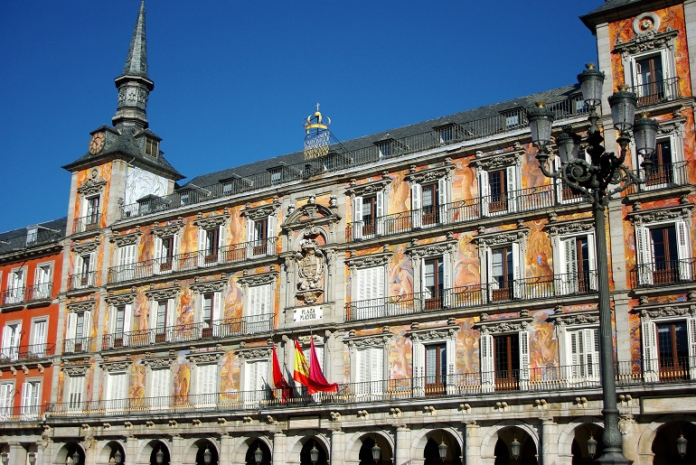 Fachada de La Casa de la Panadería en la Plaza Mayor