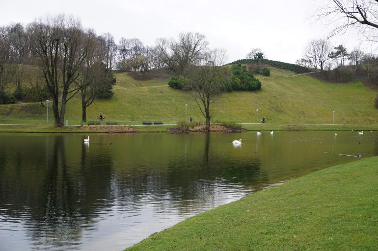 jardines del olympiapark en munich