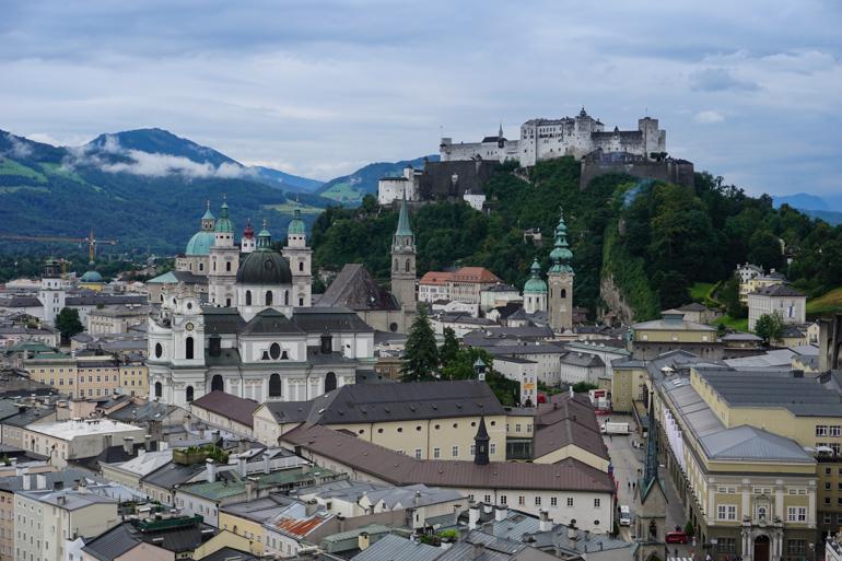 Salzburgo desde el museo de Arte Moderno