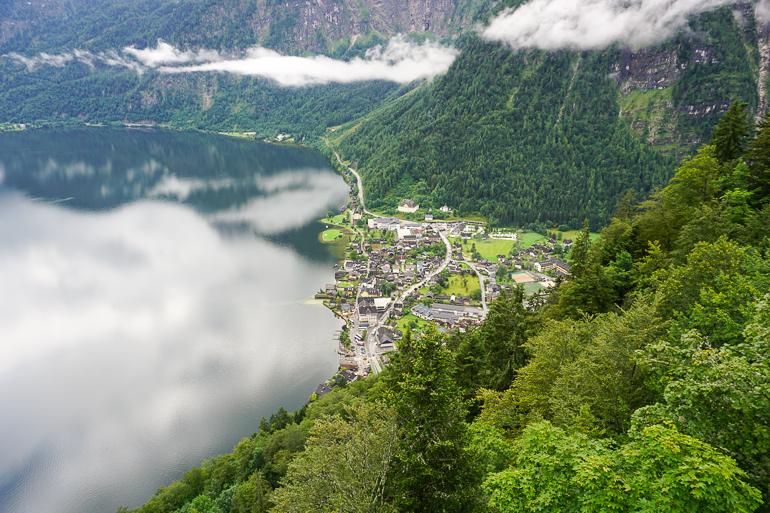 Hallstatt y el lago desde la torre Rudolph