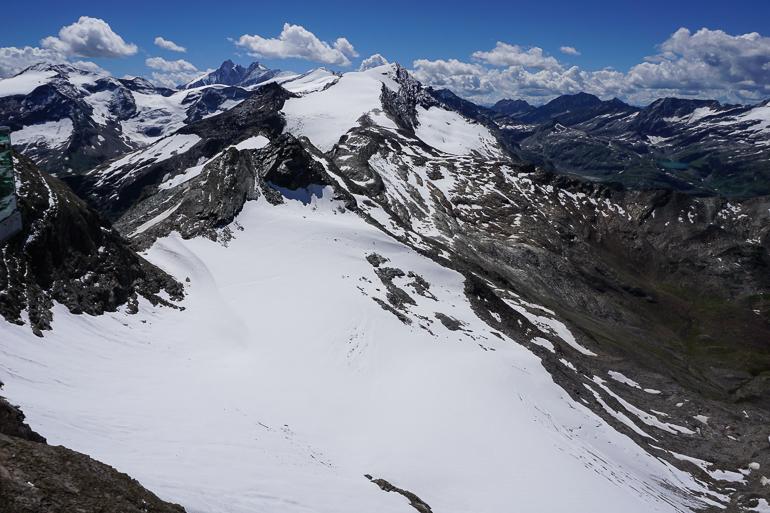 Vistas del Hohe Tauern desde el glaciar Kitzsteinhorn