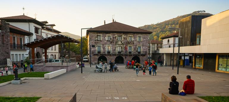 Plaza de los Fueros en Elizondo