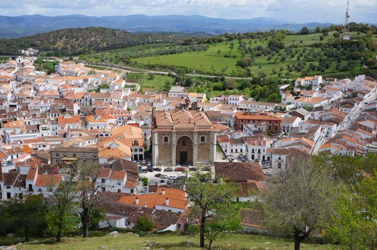 Vistas de Aracena desde el castillo