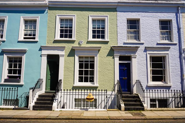 Casas de colores de Uxbridge St.