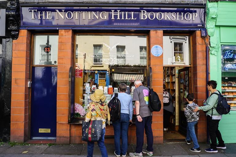 Fachada de la librería de la película Notting Hill