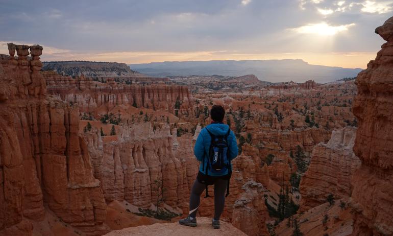 amanecer desde bryce canyon