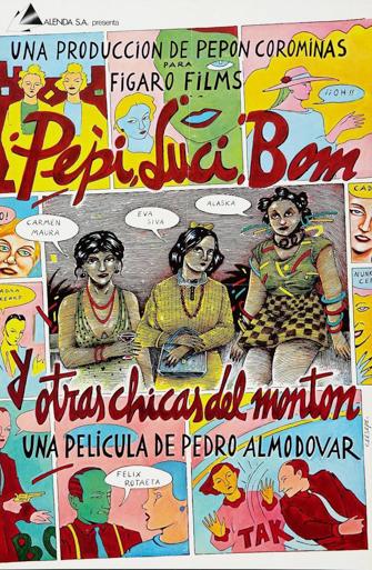 Cartel de la película Luci, Pepi, Bom y otras chicas del montón de Almodóvar