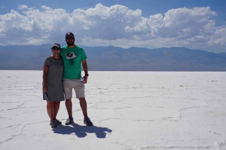 Mar de sal en Badwater Basin