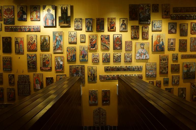 Sala de Oro del museo de Arte Medieval en korcë