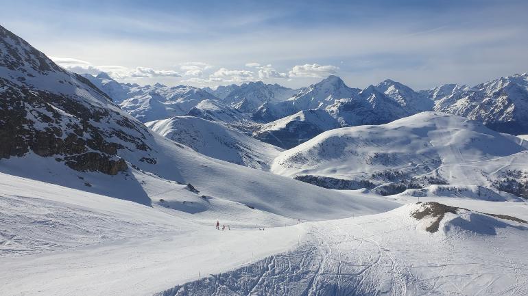 Estación de esquí de los Alpes franceses