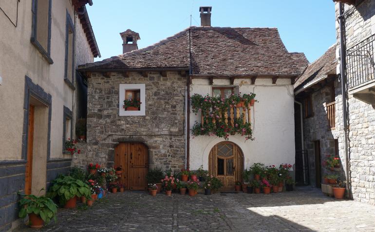 Casas de piedra de Ansó