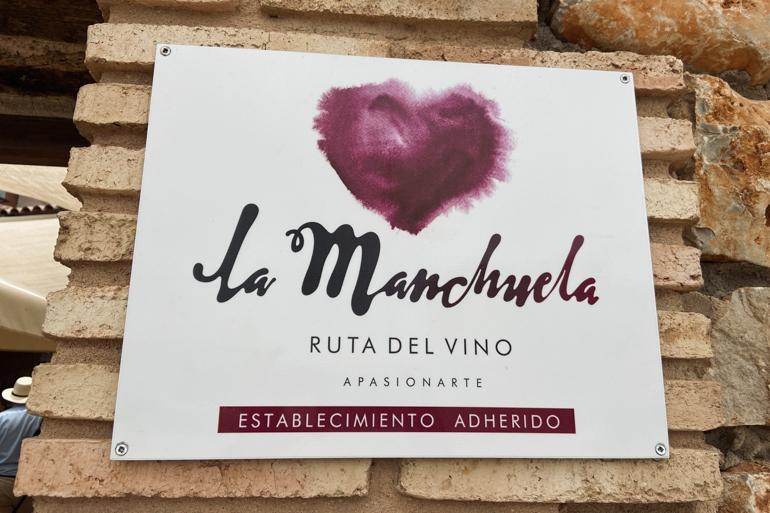 cartel de la ruta del vino la manchuela