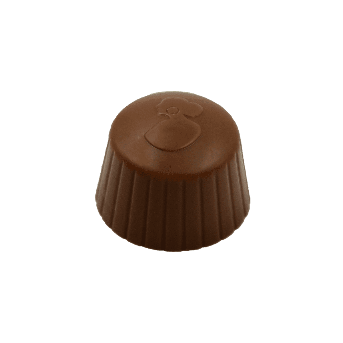 Pralina di Cioccolato al latte con ripieno di gianduia al latte e granella di nocciole