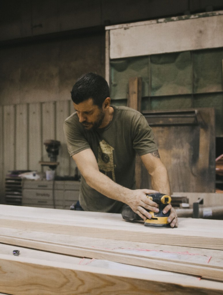 Scott With a Rotary Sander