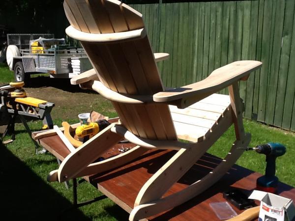 plan pour faire chaise adirondack