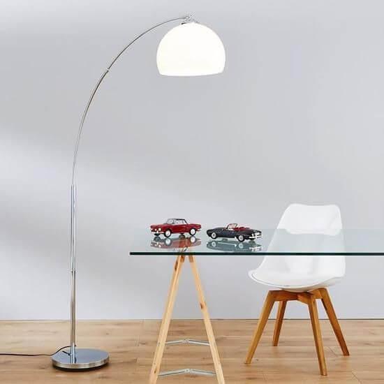 Lampadaire Arc Ikea Modele Design En Metal Et Tissu