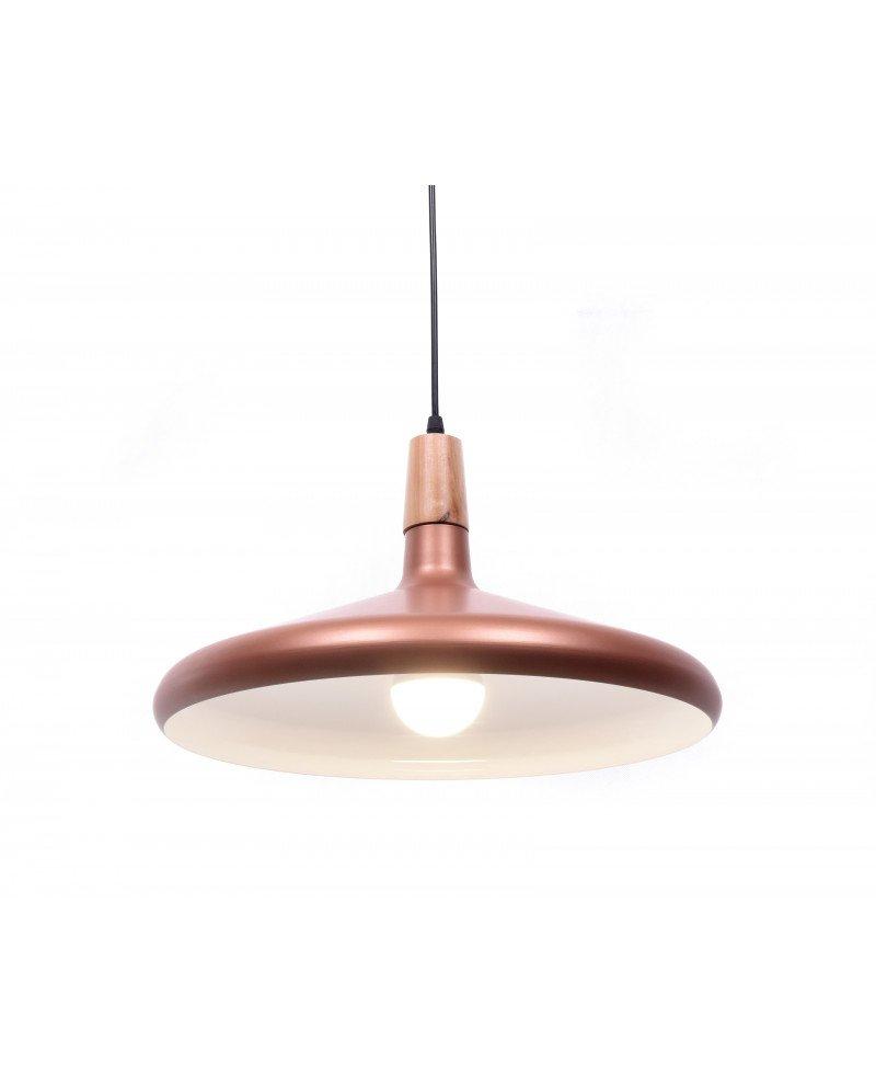 lampadario a sospensione design moderno per uffici rame
