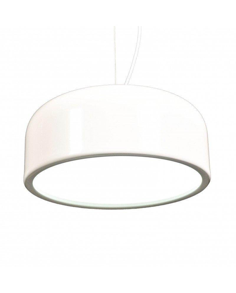 lampadario italiano moderno bianco in plastica