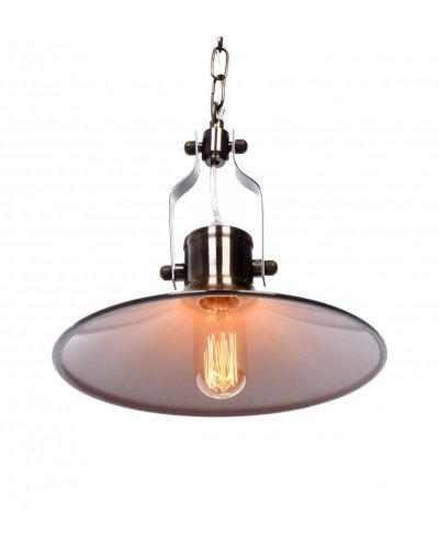 lampadario vintage industriale in ottone per appartamenti