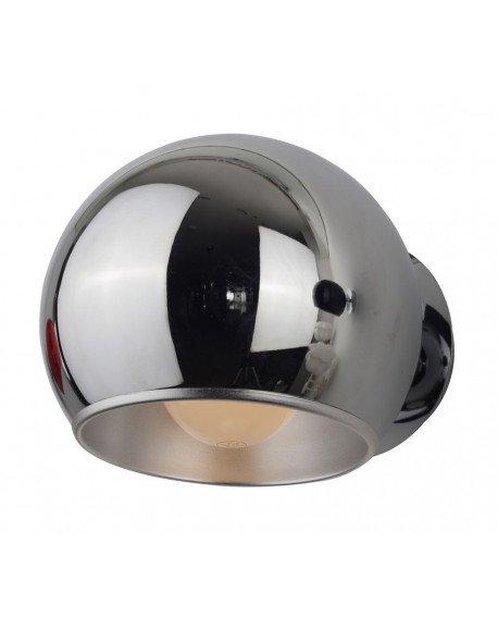 lampada da parete design anni 60 cromata orientabile