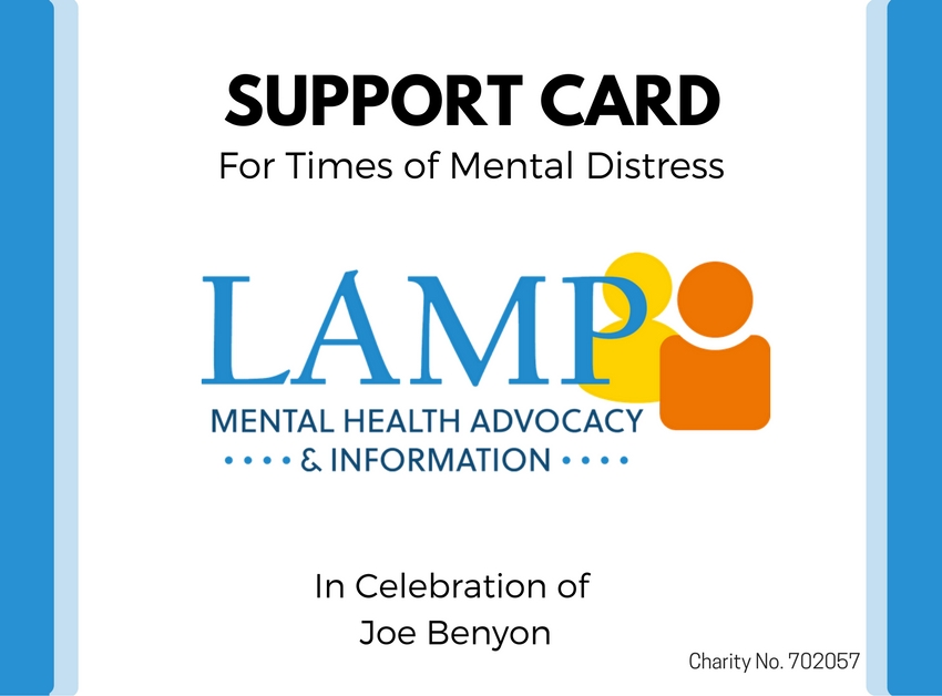 LAMP Support Card 2016 Fron