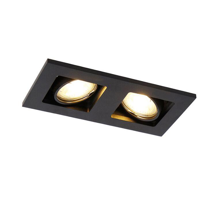 rectangle recessed spotlight 2 black qure