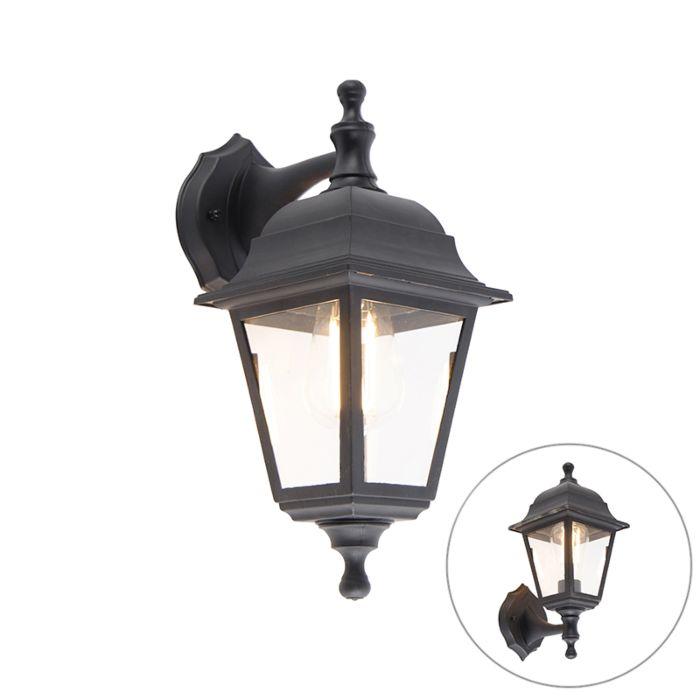 classic outdoor wall lamp black adjustable ip44 capital