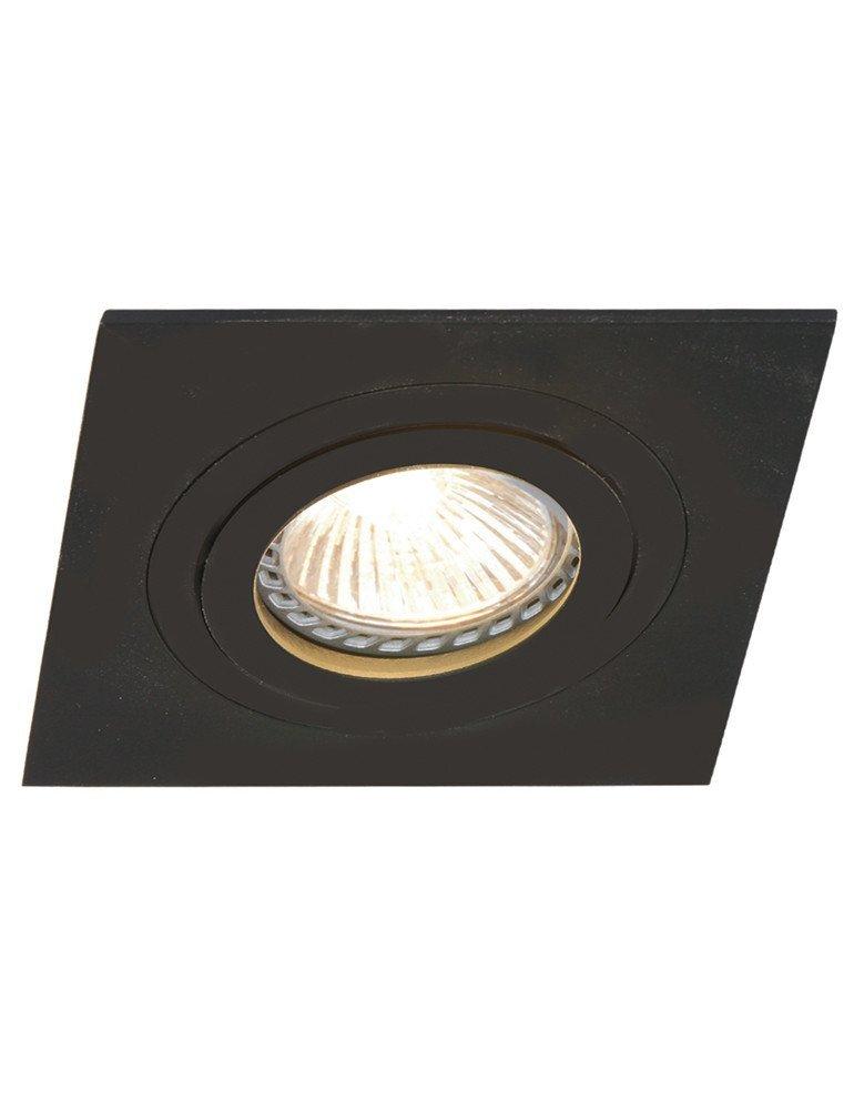 spot encastrable carre noir mexlite square