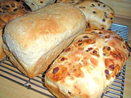 Fresh loafs of Bread