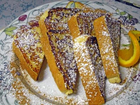 French Toast Slices dusted with Powered Sugar