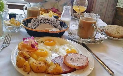 Breakfast of Eggs, Ham, Potatoes