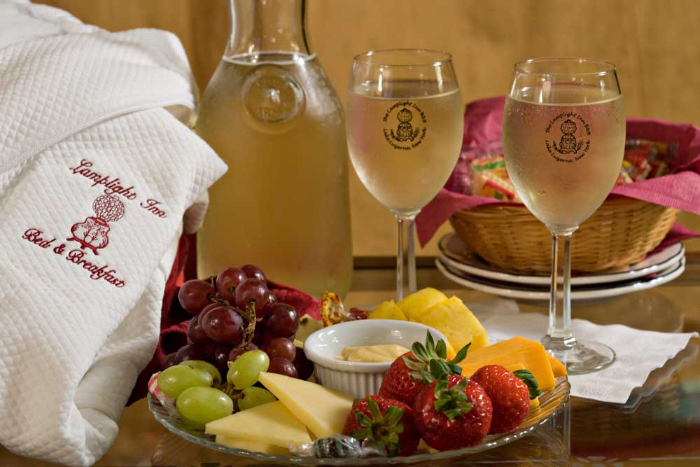 Cheese and Fruit place with Wine