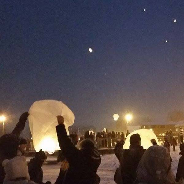 Launching Paper Lanterns over Lake George in Upstate New York