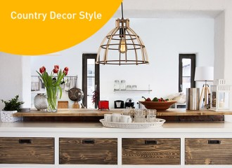 Country decor stil