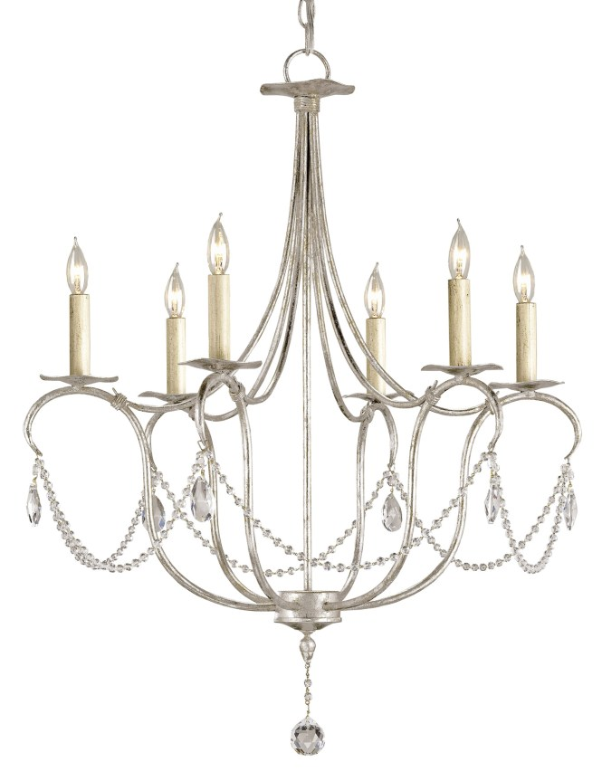 Currey And Company 9890 Crystal Lights Six Light Chandelier