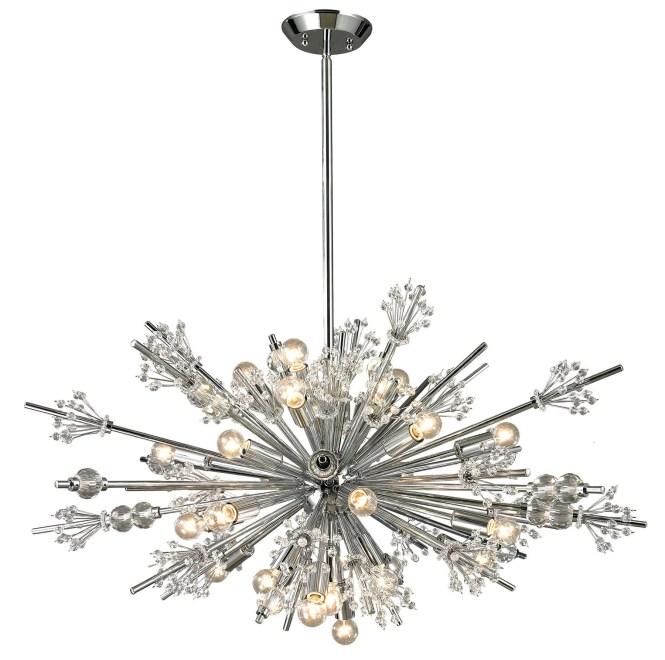 Elk Lighting 11752 24 Starburst Light Chandelier
