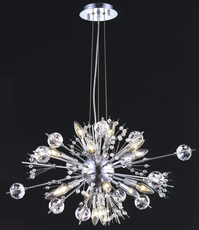 Elegant Lighting 3400d24c Ec Crystal Cyclone Small Chandelier